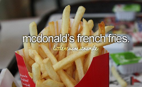 french fries, mcdonalds, fries, girly - image #520522 on ...