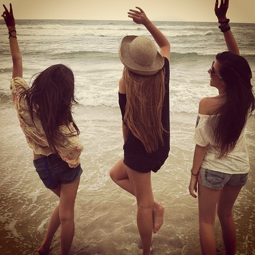girls, hair, hat, hey, sea