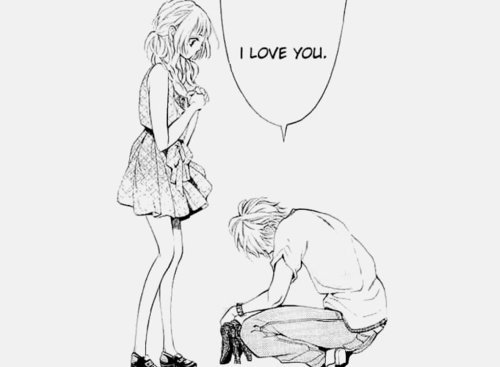anime, boy, confession, couple, cute, girl, i love you, i luv u, kawaii, manga