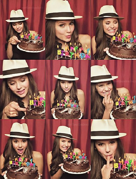nina dobrev, beautiful, birthday, cake