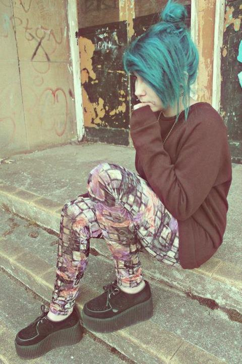 adorable, alternative, amazing, art, aww, beautiful, blue, blue hair, cheeks, creepers, dye hair, ear stetch, fashion, gauges, girl, gorgeous, grunge, hair, hair style, model, photography, piercing, piercings, plug, pretty, shoes, style, vintage