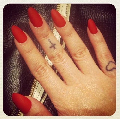 Nail Designs As Well As Red Matte Stiletto Nails Nail Art Nail Designs ...