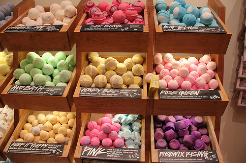:), bathbomb, beauty, blue, food, love, lush, pink, rose
