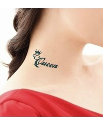 pcs queen king letters crown tattoo stickers