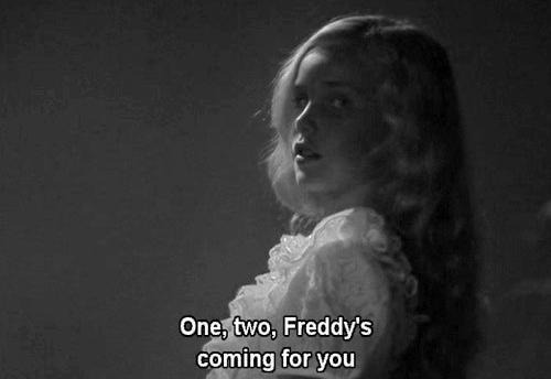 a nightmare on elm street, black and white, blonde and cute