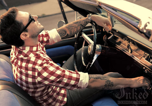 adam levine, hot, car, maroon 5