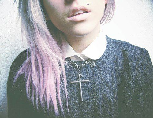 alternative, girl, pastel hair