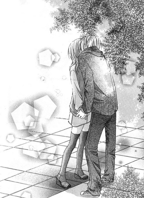 amazing, anime couple, black and white, couple, illustration, kiss, love berrish, love story, manga, nana haruta