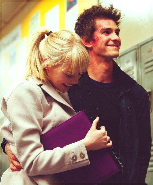 andrew garfield, cute, emma stone, love - image #654947 on ...
