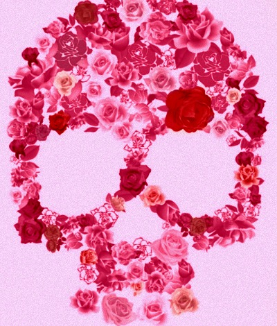 art, beautiful, bones, concept, conceptual, cute, drawing, emotion, emotional, expressive, inspiration, inspirational, photo, photography, pink, pretty, red, rose, rose skull, roses, skeleton, skull