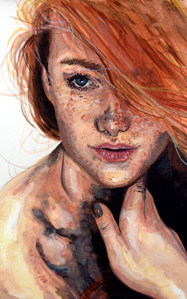 art, girl, illustration, painting