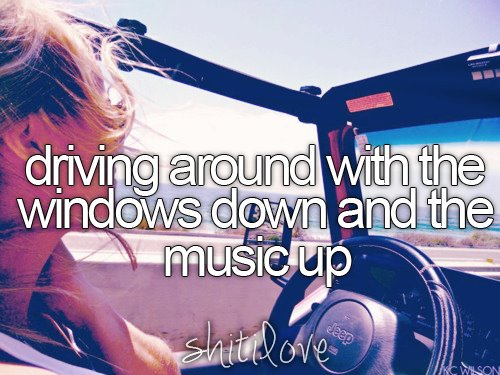 auto, car, driving, girl, happy, music, shitilove, summer, teen, teens, text, tumblr