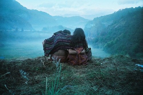 autumn, aztec, boy, cold, cool, couple, cute, fog, friendship, girl, love, mountains
