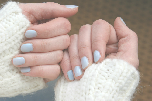 autumn, blue, fall, fashion, knitted, nails, outfit, photography, snow, winter
