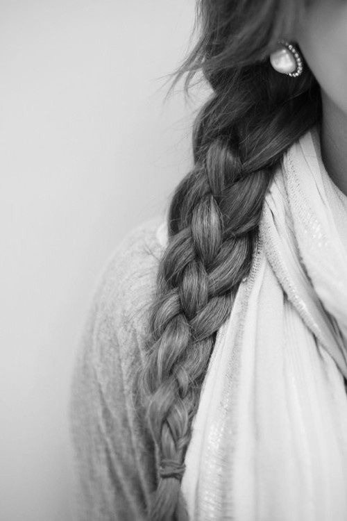 awesome, beautiful, black and white, braid