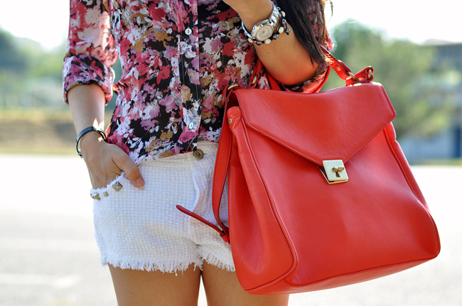 bags, clothes, fashion, floral
