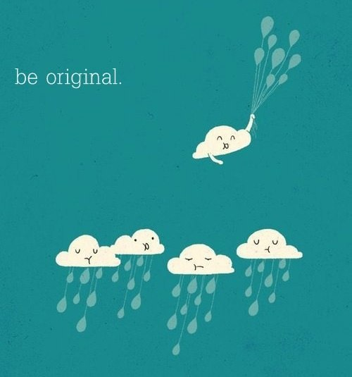 be original, blue, clouds, happy