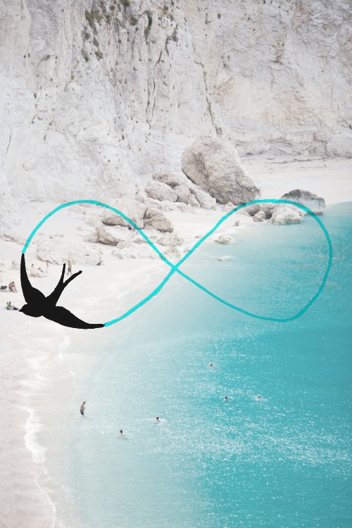 beach, beautiful, bird, infinity, infinity sign, landscape, sea, summer