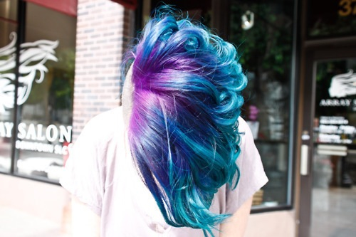 beautiful, beauty, blue, fashion, girl, girly, ombre, photography, pretty, purple, salon, shop, style, white, woman
