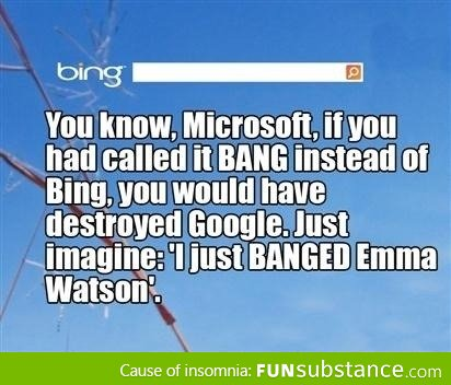 bing, google, emma watson, funny, joke