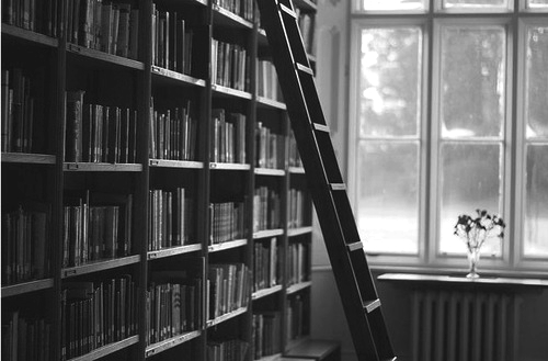 black and white, books, photography - image #642653 on ...
