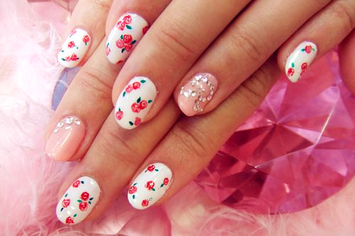bling, cute, fashion, nails, pink