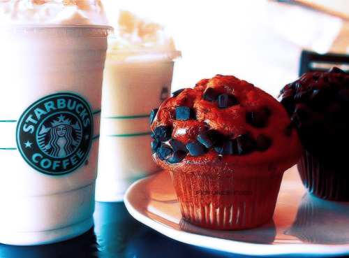 blue, coffee, cupcake, delicious