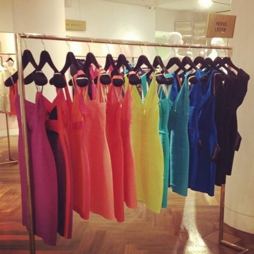 blue, colors, dresess, dress, fashion, green, herve leger, orange, party, pink, red, short, yellow