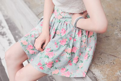 Blue Floral Pattern Tumblr Blue Dress Floral Pattern