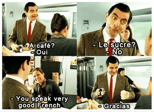 boy, coffee, cute, french, funny, girl, hair, love, mr. bean, mr. bean's holidays, spanish, sugar, sweet, text, vintage