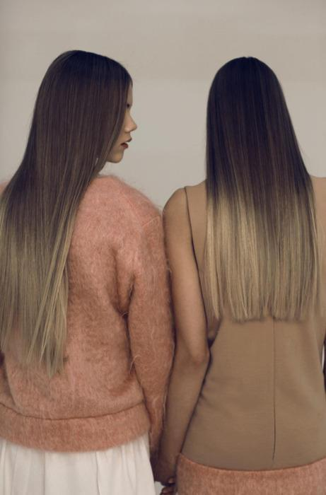 brown, cute, girls, hair, love, ombre, straight, sweater