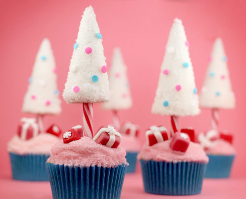 cake, candy, christmas, color, cool, cupcake, cute, gift, pink, red, sweet, tree, white, yummy