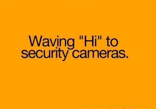 cameras, child, cute, funny, hi, old, quotes, security, waving, young, youth