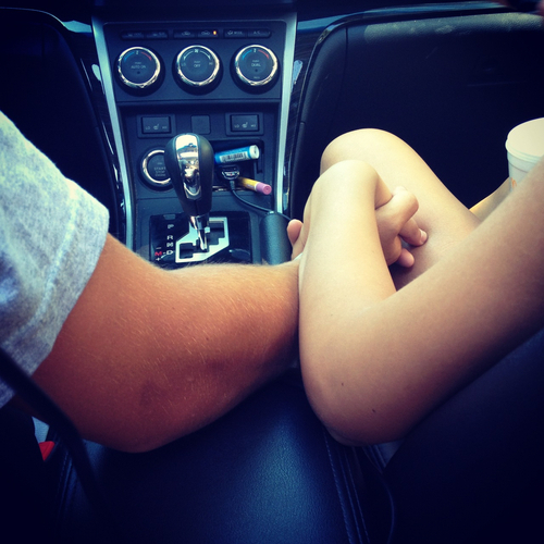 Tumblr couples in a car