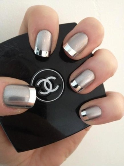 chanel, grey, hands, manicure