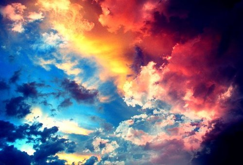 cielo, heaven, multi-colored and skies