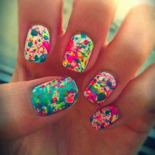 colorful, fashion, nails, paint
