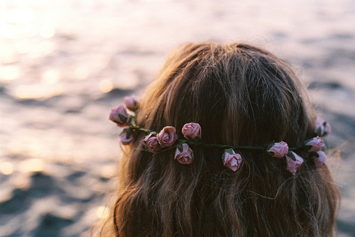 crown, flower, flowers, girl