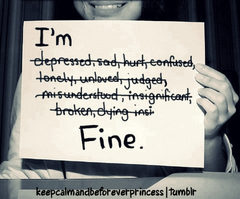 crying, despressed, fake smile, hurt