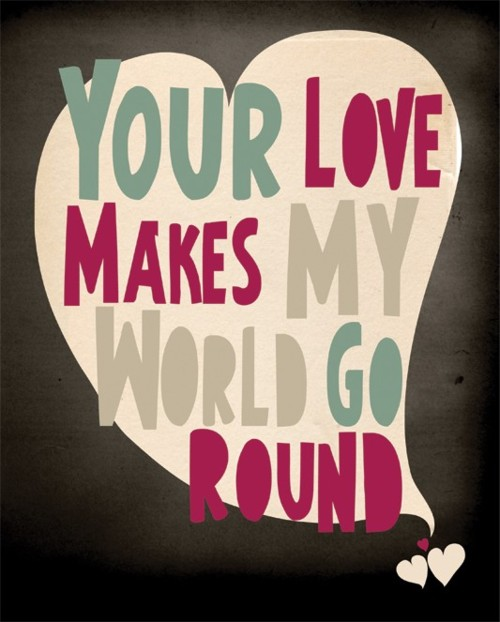 cute, love, quote, round, text, world