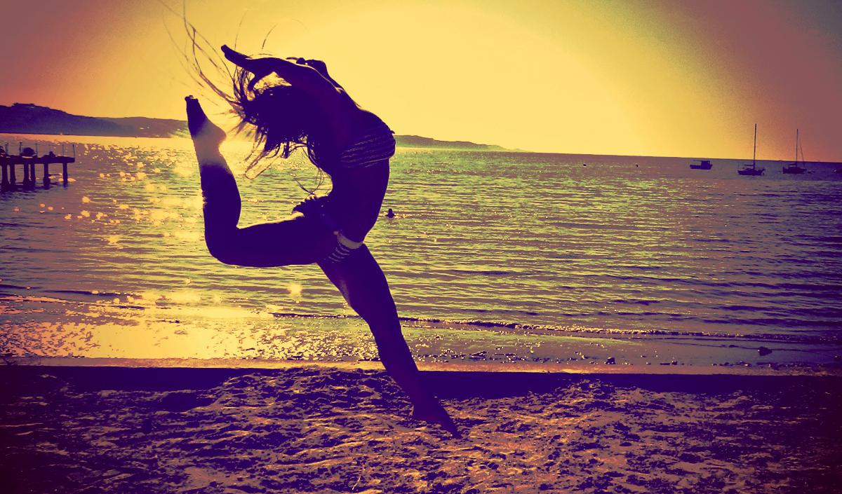 dance, girl, sea, summer