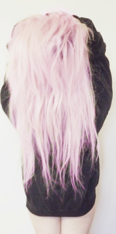 dyed, girl, goth, hair, indie, lovely, pastel, pink