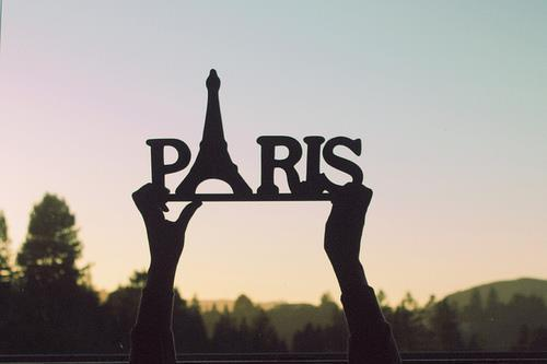 eiffel tower, heart, paris, photography, text