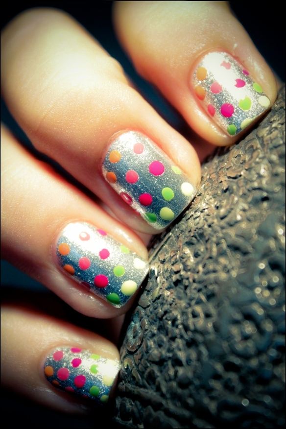 Fashion girl nails style trend