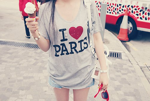 fashion, girls, heart, paris, shirt, style