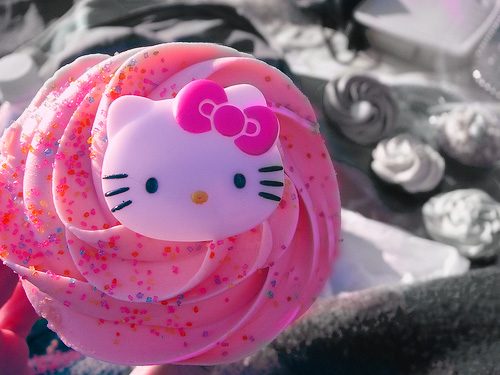 food, hello kitty, ice cream, pink