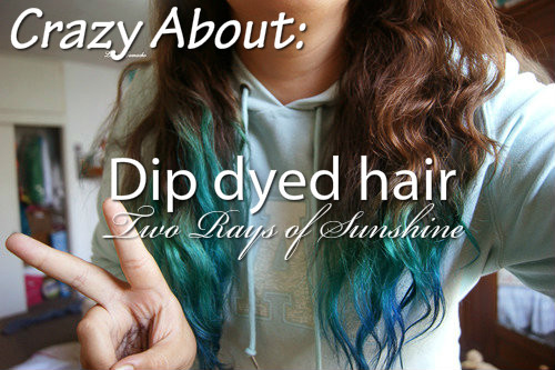 Hair Dip Dyes Blue Brunette Image 664840 On Favim Com