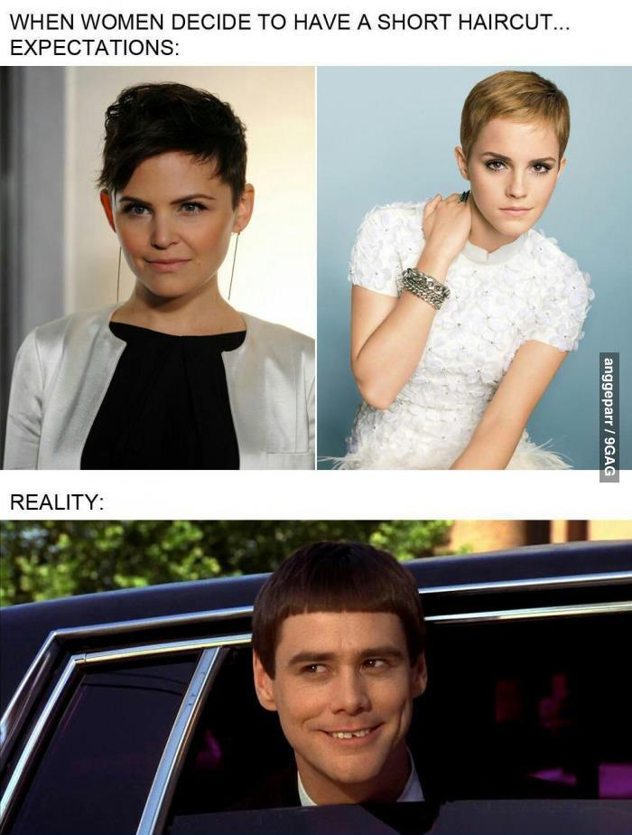 hair, haircut, funny, expectation, reality