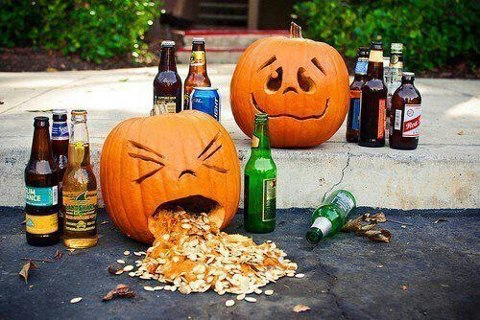 funny, halloween and pumpkin carving
