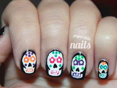 animal, animals, awesome, black, black and white, blind, colorful, colors, cute, deaf, death, flower, flowers, halloween, kool, little, mute, nail art, nails, new, orange, paper, pretty, skull, small, thin, tiny, tutorial, white, white rabbit